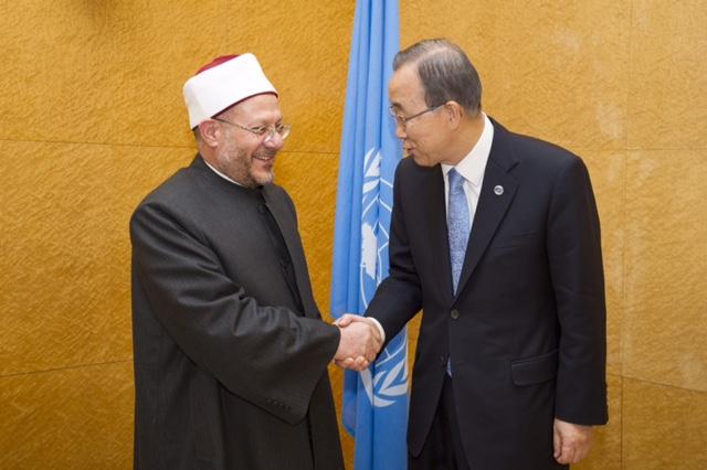 Secretary-General Ban Ki-moon meets with Shawki Allam, Grand Mufti of Egypt