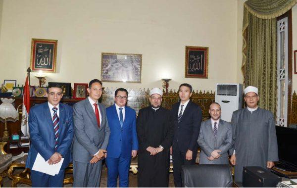 <center> خلال استقباله لسفير كازاخستان بالقاهرة <br/> وزير الأوقاف يؤكد :