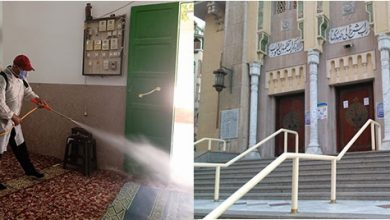 Photo of الأوقاف :  بالصور لا مخالفات في ظهر الجمعة اليوم   والمساجد مغلقة وتتابع عمليات التعقيم والنظافة