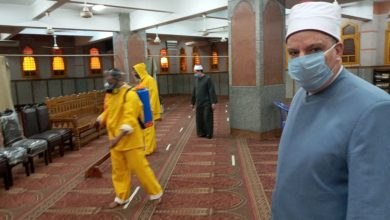 Photo of بالصور :مدير مديرية أوقاف الجيزة  على رأس حملة موسعة لنظافة المساجد وتعقيمها