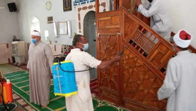 Photo of بالصور :مدير مديرية أوقاف أسوان  يقود حملة موسعة لنظافة المساجد وتعقيمها