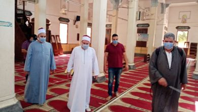 Photo of بالصور:مدير مديرية أوقاف الغربية  على رأس حملة موسعة لنظافة المساجد وتعقيمها