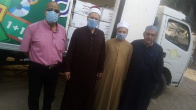 صورة بالفيديو والصور : مديريات أوقاف: (شمال سيناء – كفر الشيخ – الوادي الجديد)  تستقبل سيارات لحوم الأضاحي